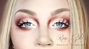 smokey rose gold eye face makeup