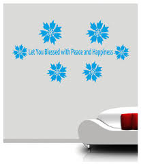 ritzy flower sp quotes floral sticker x cms