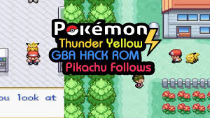 Pokemon Thunder Yellow Rom Hack | Pikachu Follows [Download in ...
