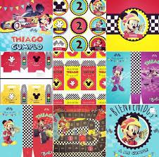 Kit Imprimible Mickey Aventura Sobre Ruedas