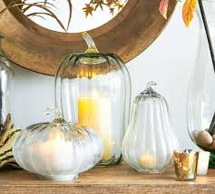 recycled glass pumpkin cloche clear