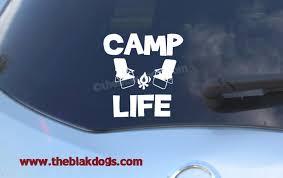 Camp Life Camping Sticker Vinyl Sticker Car Decal Blakdogs Vinyl Designs