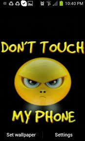 dont touch my phone live wallpaper free