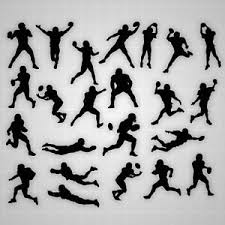 Football Wall Decals Football Boy Silhouette Wall Stickers Football Decal Lot Ebay