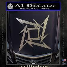 Metallica Ninja Star Decal Sticker A1 Decals