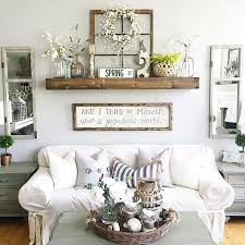 Rustic Wall Decor Idea Featuring Reclaimed Window Frames Wall Decor Living Room Room Wall Decor Farm House Living Room