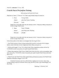 Contoh Surat Perjanjian Arisan Uang