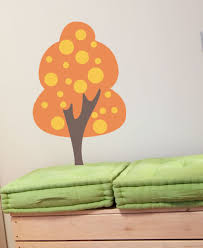 Whimsical Tree With Polka Dots Vinyl Wall Decal