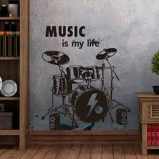 Wall Stickers Wall Decals Modern Drums Pvc Wall Stickers 3573297 2020 28 49