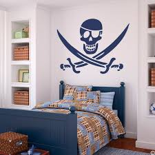 Eye Patched Jolly Roger Vinyl Wall Decal