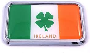 Amazon Com Ireland Irish Flag Rectanguglar Chrome Emblem 3d Car Decal Sticker 3 X 1 75 Automotive