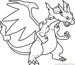 Pokemon Mega Charizard X Coloring Pages