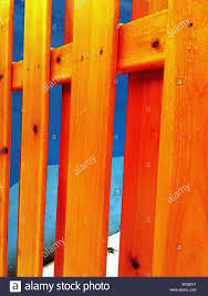 Full Frame Shot Of Orange Wooden Fence Stock Photo Alamy