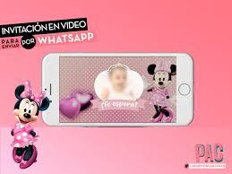 Minnie Mouse Video Invitacion Para Enviar Por Whatsapp Pac 400