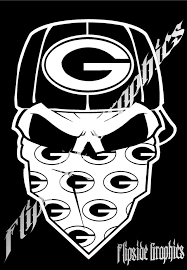 16 95 Custom Skull Green Bay Packers Sticker Decal 14 Inch White Note Watermark Secu Custom Decals Green Bay Packers Green Bay Packers Tattoo