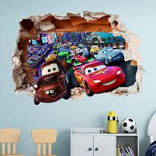 Disney Cars Wall Sticker 3d Boys Girls Bedroom Vinyl Wall Art Decal Ebay