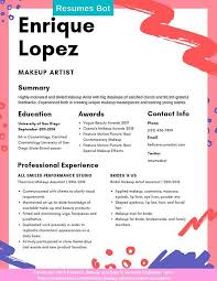 makeup artist resume sles and tips