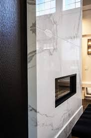 2 story floor to ceiling wall fireplace