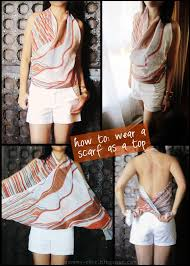 blogger how to wear scarves diy