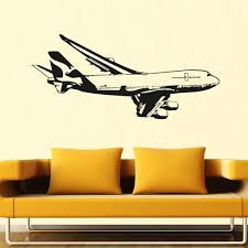 Climbing Boeing 747 Designed Wall Sticker Aviation Shop