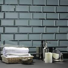 glossy glass mirror wall tile