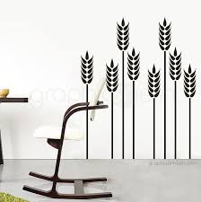 Wheat Grass Wall Decals Floral Removable Interior Art Graphicsmesh