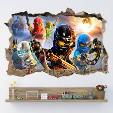 Kids Wall Sticker Lego Ninjago Muraldecal Com