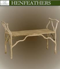 bois de bourbon faux bois bench