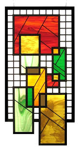 custom hanging stained glass w beveled