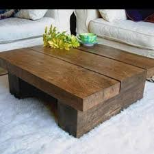 4ft x 4ft wood coffee table chunky