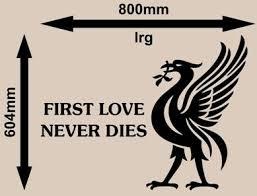 Liverpool Football Club Wall Art Sticker Vinyl Decal Various Sizes Vinyl Lady Decals