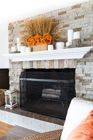 simple fall mantel decor in my own style