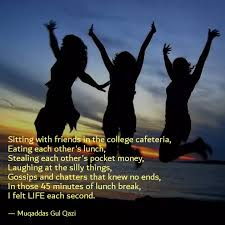 sitting friends in t quotes writings by muqaddas gul