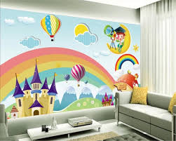 Beibehang Custom Wallpaper Kids Room Mural Rainbow Castle Cartoon Backdrop Kids Room Mural Wallpaper For Walls Papel De Parede Custom Wallpaper Mural Wallpaper For Wallsmural Wallpaper Aliexpress
