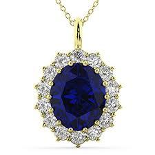 diamond halo pendant necklace 14k
