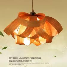 modern wood hanging lamps wooden veneer