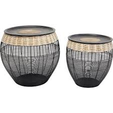 ethnic side tables african drums