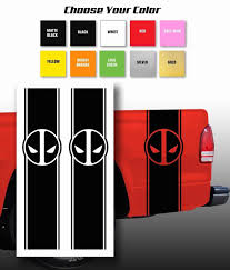 For Deadpool Chevy Ford Dodge Pickup Truck Bed Stripes Decal Stickers Choose Color Car Stickers Aliexpress