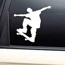 Amazon Com Skateboarding Skate Vinyl Decal Laptop Car Truck Bumper Window Sticker Automotive