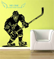 Ice Hockey Player Nhl Sport Boy Room Mural Decor Wall Art Vinyl Decal Sticker Free Shipping Decal Sticker Vinyl Decals Stickersdecoration Wall Aliexpress