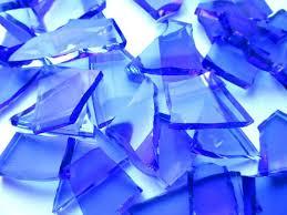 blue glass tiles blue broken glass