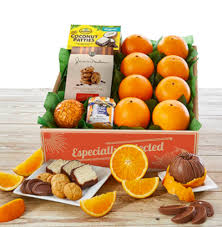 sunshine gift of oranges and sweets for