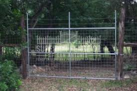 Welded Wire Gate With Metal Post Frame And Barbed Wire Superior Fence Co San Antonio