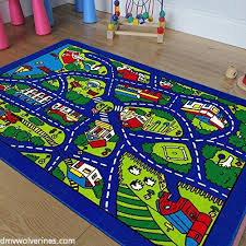 blue play village city roads map train