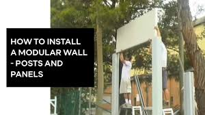How To Install A Modular Wall Posts And Panels Modularwalls Youtube
