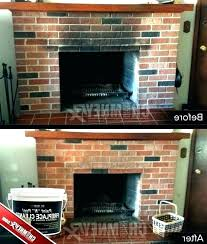clean fireplace brick milahomedesign co
