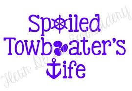 Spoiled Towboater S Wife Decal Cricut Vinyl Wife Wife Life