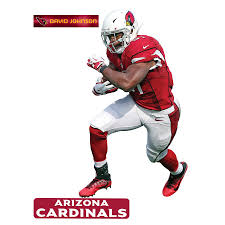 Fathead David Johnson Arizona Cardinals 3 Pack Life Size Removable Wall Decal