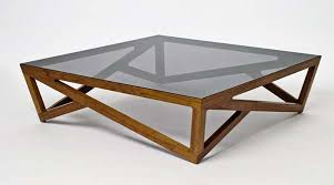 coffee tables with a hardwood lattice base