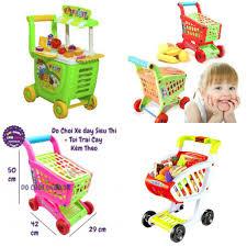 Hộp đồ chơi xe đẩy siêu thị cao cấp dành cho bé ( kèm phụ kiện, rau củ)